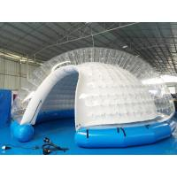 Wholesale Semi Transparent Inflatable Bubble Tent / Inflatable Yard Tent White PVC Tarpaulin from china suppliers