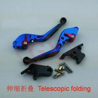 China Blue color motorcycle cnc folding lever clutch and brake lever for sale on sale