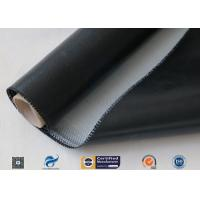 China 0.5mm 3732 Black Silicone Rubber Coated Fiberglass Cloth For Fabric Expansion Joint on sale
