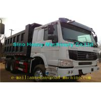 Wholesale 6 x 4 336hp / 371hp Sinotruk Howo Tipper  Dump Truck Hyva Lifting Iso Ccc  thickness of bottom and side from china suppliers