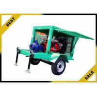 China Movable Water Cooled Diesel Powered Water Pump With Two Wheels OEM for sale