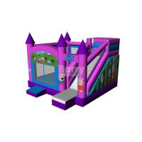 Buy cheap Pink Cool Kids Discount Bounce Houses , Pegga Pig Bouncy House from wholesalers