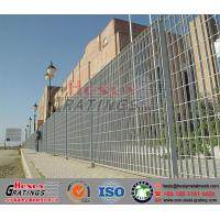 galvanised steel grating fence