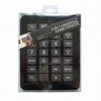 Wholesale Universal Remote Control with SAT/CBL, DVD, TV 3-in-1 Device, Powerful IC, 4-digit Code List from china suppliers