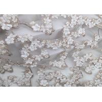 Quality Hand Cut Beads Water Soluble Lace Fabric Embroidery Designs 3d Knitted Technics for sale