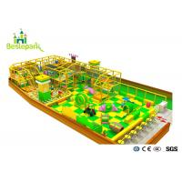 Wholesale Green Yellow Color Indoor Soft Playground With Protective Web / Climbing Wall from china suppliers