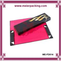 Wholesale Black folding paper box with gold foil, custom cosmetic paper collapsible box ME-FD014 from china suppliers