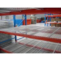 Wholesale Dark Bule / Orange Red Industrial Storage Racks 75mm Freely Adjusted With Wire Mesh Decking from china suppliers