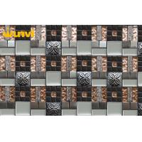 Wholesale Colorful Heat Resistant Glass And Metal Mosaic Tile For Bathroom Walls from china suppliers
