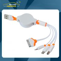 Wholesale Portable 4 in 1 USB Mulit Power Charger for iPhone 5 / 4s / Sumsang / Micro USB from china suppliers