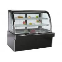 Wholesale Black Marble Stainless Steel Refrigerated Cake Showcase With Back Sliding Door from china suppliers