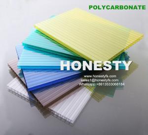 Wholesale fire retardant hollow plastic sheet 4mm 6mm 8mm 10mm hollow polycarbonate sheet Foshan Honesty polycarbonate sheet from china suppliers