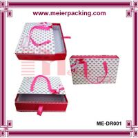 Wholesale Ribbon slider drawer paper box, cardboard drawer shoe box, garment packaging box ME-DR001 from china suppliers