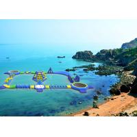 Wholesale Rapids Splashdown Inflatable Water Park 0.9mm PVC Blue Tarpaulin from china suppliers