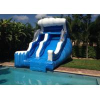 Wholesale Cuatom Made Size Wave Commercial Inflatable Slide for Mrtal frame Swimming pool from china suppliers