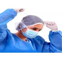 Wholesale Fluid Resistant Disposable Surgical Mask , 3 Ply Non Woven Mask Anti Bacteria from china suppliers