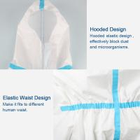 Wholesale Splash Repellent Disposable Protective Clothing , Non Woven Disposable Protective Coveralls from china suppliers