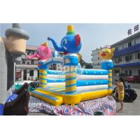 Wholesale Commercial Inflatable Bouncers Animal Elephant Space Moonwalk For Home / Playground from china suppliers