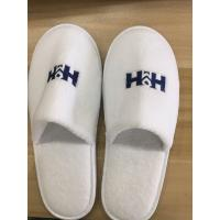 Wholesale 100 pairs spa hotel guest slippers closed toe coral fleece slippers from china suppliers