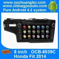 Wholesale Ouchuangbo In Dash GPS Navi DVD Stereo Honda Fit 2014 Radio 3G Wifi Capacitive Android 4.4 from china suppliers