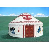 Customized Mongolian Yurt Tent Bamboo Pole Roof With 12 - 52 Square Meters