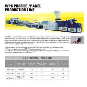 WPC profile/panel extrusion line