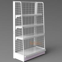 Quality White Metal Display Racks / Floor Displays Retail Snack Daily Commodity Promotion for sale