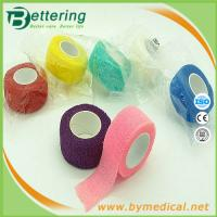 Wholesale 2.5cm Easy Hand Tearable Non Woven Finger wrap cohesive bandage self adhesive bandage from china suppliers