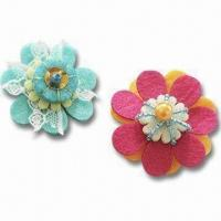 China Colorful DIY Felt Craft Fair/Brooch Ring Kit, 12 Coordinated Color Designs are Available on sale