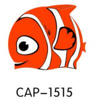 Wholesale Lovely Fish Shape Baby Swimming Caps Silicone Or Latex Swim Caps Light Weight from china suppliers