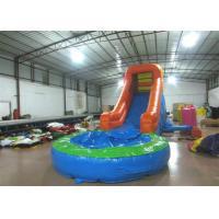 China Single slide inflatable water slide small inflatable water slide with pool for kids for sale