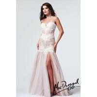 Wholesale Chanpagne Organza Lace Long Evening Party Dresses With Exquisite Embroidery from china suppliers