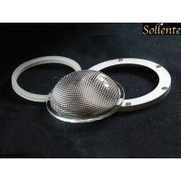China Anti Glare Glass LED Light Lens With Silicone Gasket Aluminum Ring on sale