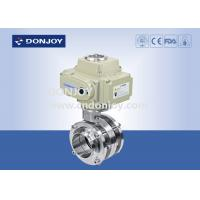 Wholesale Stainless Steel Sanitary Level Butterfly Valves Ball Type With Electic Actuator from china suppliers