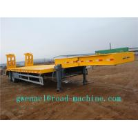 Wholesale 3 Axles Manual Semi Trailer Trucks Low Bed , Two Single Cargo Truck from china suppliers