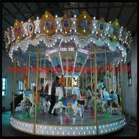 Popular and durable carousel horse for kids mechanical carousel horse ride for sale