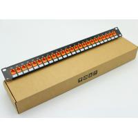 Wholesale Network Cat5e Modular Patch Panel 24Port RJ45 Patch Panels With Keystone Jacks Fluke Pass Pach Panel with support bar from china suppliers