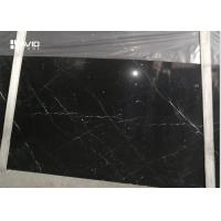 Anti Wear Marble Natural Stone Slabs Nero Marquina Black Color With White Veins for sale