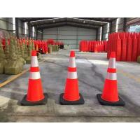 """Buy cheap Standard 28"""" High Solid Orange BLACK BASE Flexible Road cone Safe cone from wholesalers"""