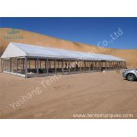 Buy cheap High Pressed Aluminum Framed Tent Clear Glass Wall Glass Door 10M X 30M from wholesalers
