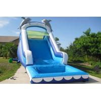 Wholesale Play Inflatable Water Slides For Kids / Dolphin Inflatable Pool Water Slide from china suppliers
