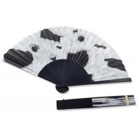 China Recycled Traditional Mini Paper Hand Fans Colored Paper Hand Fans With 30 Ribs for sale
