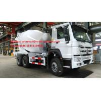 Wholesale SINOTRUK HOWO ZZ5257GJBM3841W Mobile Mixer Cement Truck LHD 10CBM 290HP Engine from china suppliers
