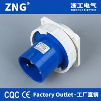 China Flush Mount Appliance Inlet 63a3pin, Industrial Wall Plug 63a 2P+PE, Industrial Reverse Plug IP67 for sale