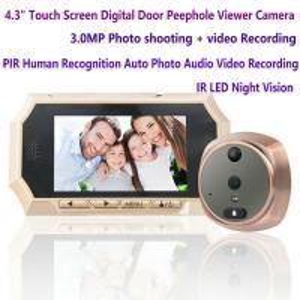 "Wholesale 4.3"" Digital Door Peephole Viewer Photo Video Camera Recorder Night Vision Door Eye Smart PIR Doorbell Intercom System from china suppliers"