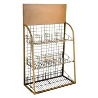 Quality 3 Tiers Custom Metal Display Shelf Logo Printing Acceptable for Exhibiting for sale
