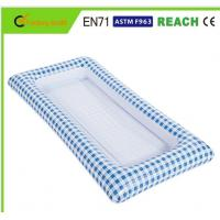 Buy cheap White / Blue Checkered Inflatable Buffet Cooler , Inflatable Ice Cooler Waterproof Material from wholesalers