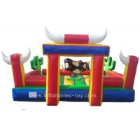 Wholesale Commercial Inflatable Sports Games Riding Machine Inflatable Mechanical Bull For Park from china suppliers