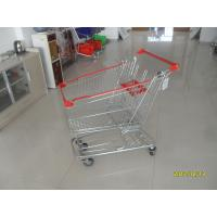 Wholesale 100L Low Tray Supermarket European Steel Shopping Trolley With Anti UV Plastic Parts from china suppliers