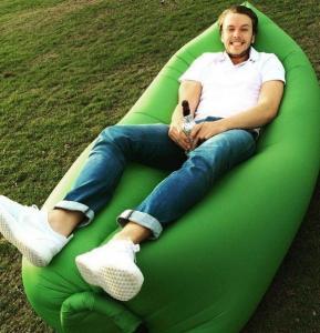 Buy cheap Laybag Sleeping Bag Air Sleep Camping Bed Sofa Portable Beach Air Hammock Nylon Sleep Bed from wholesalers